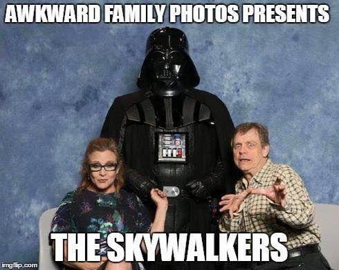 Star Wars Awkward Family Photo Winning The Interwebz Awkward Family Photos Star Wars Love Star Wars Geek