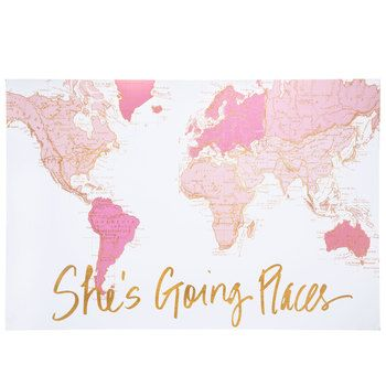 She S Going Places Canvas Wall Decor Hobby Lobby In 2020 Canvas Wall Decor Pink Wall Decor Black Wall Decor