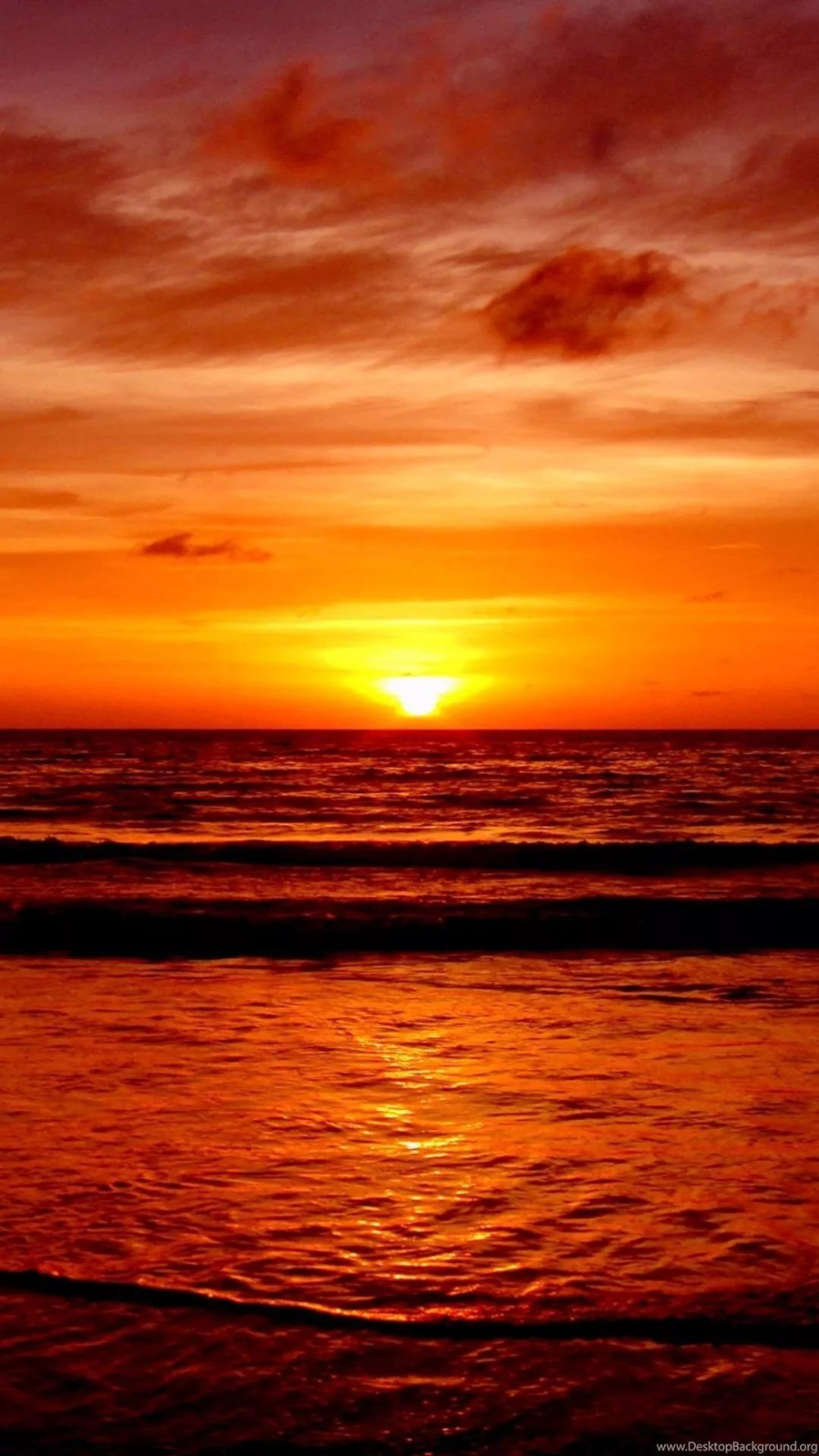 Beautiful Sunset iPhone Wallpapers Atardecer en la playa