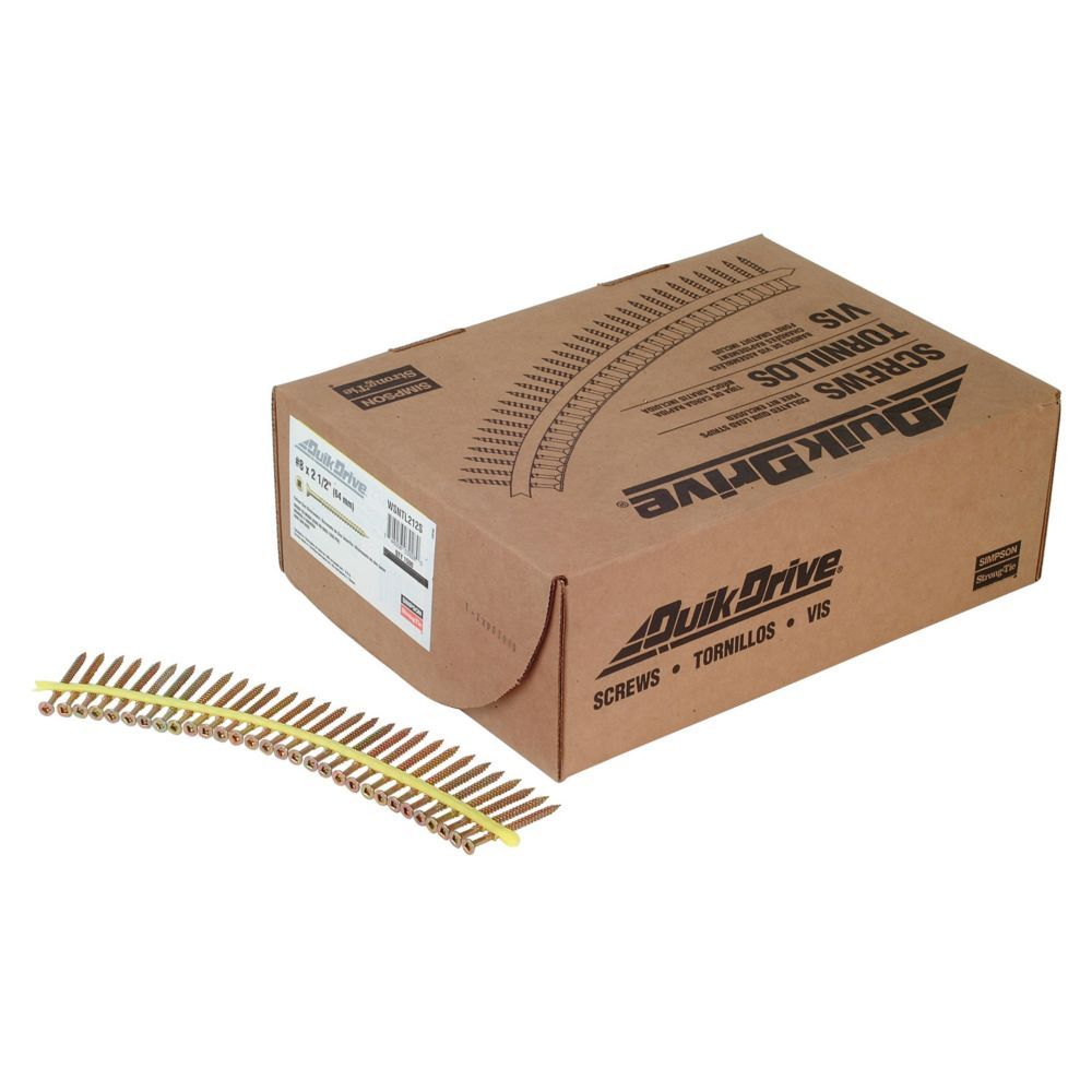 Strong Drive Wsntl Subfloor Screw Collated 8 X 2 1 2 Inch 3 Sq Flat Head 1500 Qty Flat Head Decking Screws Wood Screws