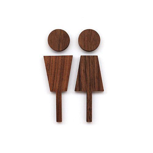 【レビューを書いてメール便送料無料】ハコア トイレットサイン / Hacoa Toilet Sign / 案内表示 木製 男女 ドア【楽天市場】