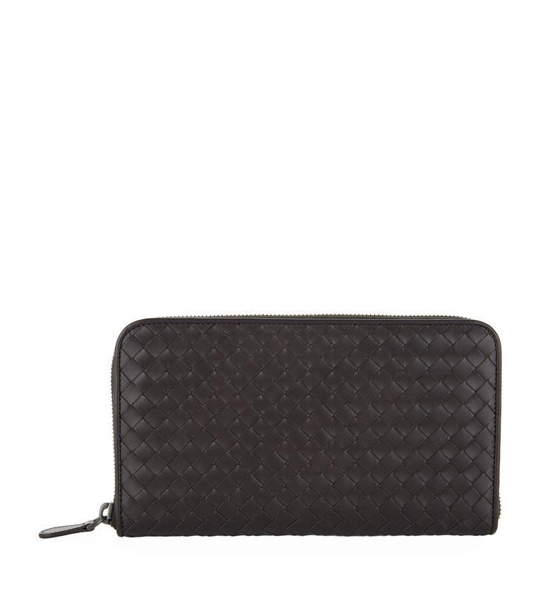 BOTTEGA VENETA Intrecciato Zip Around Leather Wallet. #bottegaveneta #