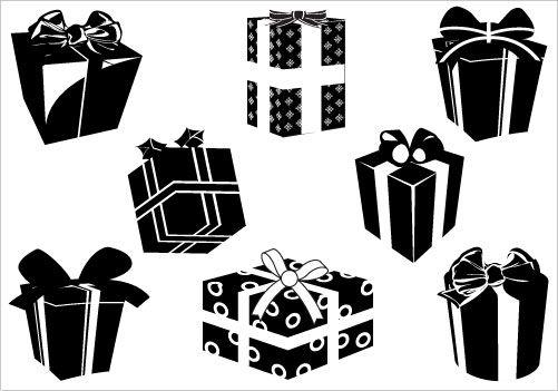 Christian Vector Graphics Silhouette Clip Art Christmas Gift Box Silhouette Christmas