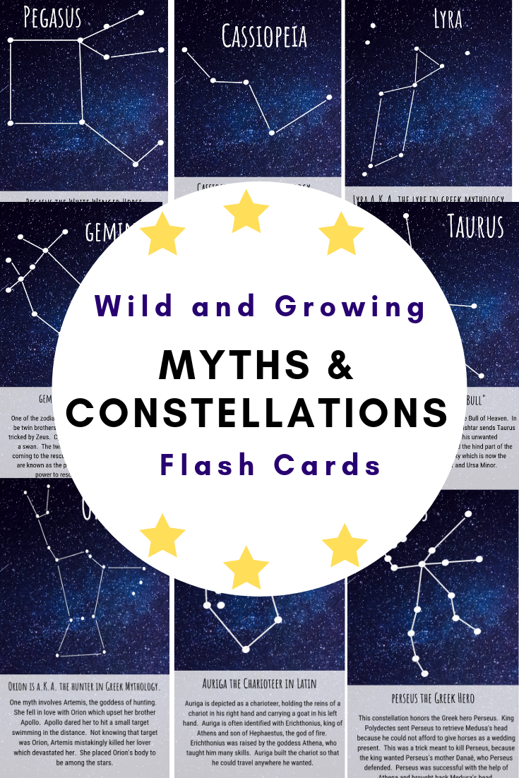 Myths and Constellations Flash Card Set   Constellations [ 1102 x 735 Pixel ]