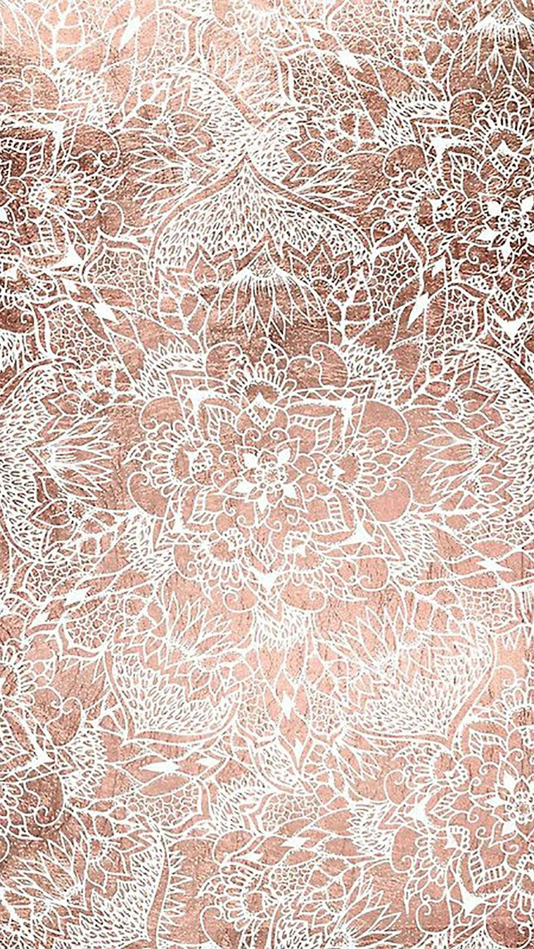 Rose gold wallpaper by Kristen Mangon on Pretty Stuffs
