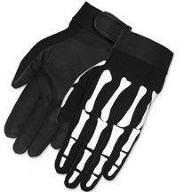 Skeleton Bones Biker Mechanic Gloves (Small) - http://ridingjerseys.com/skeleton-bones-biker-mechanic-gloves-small/