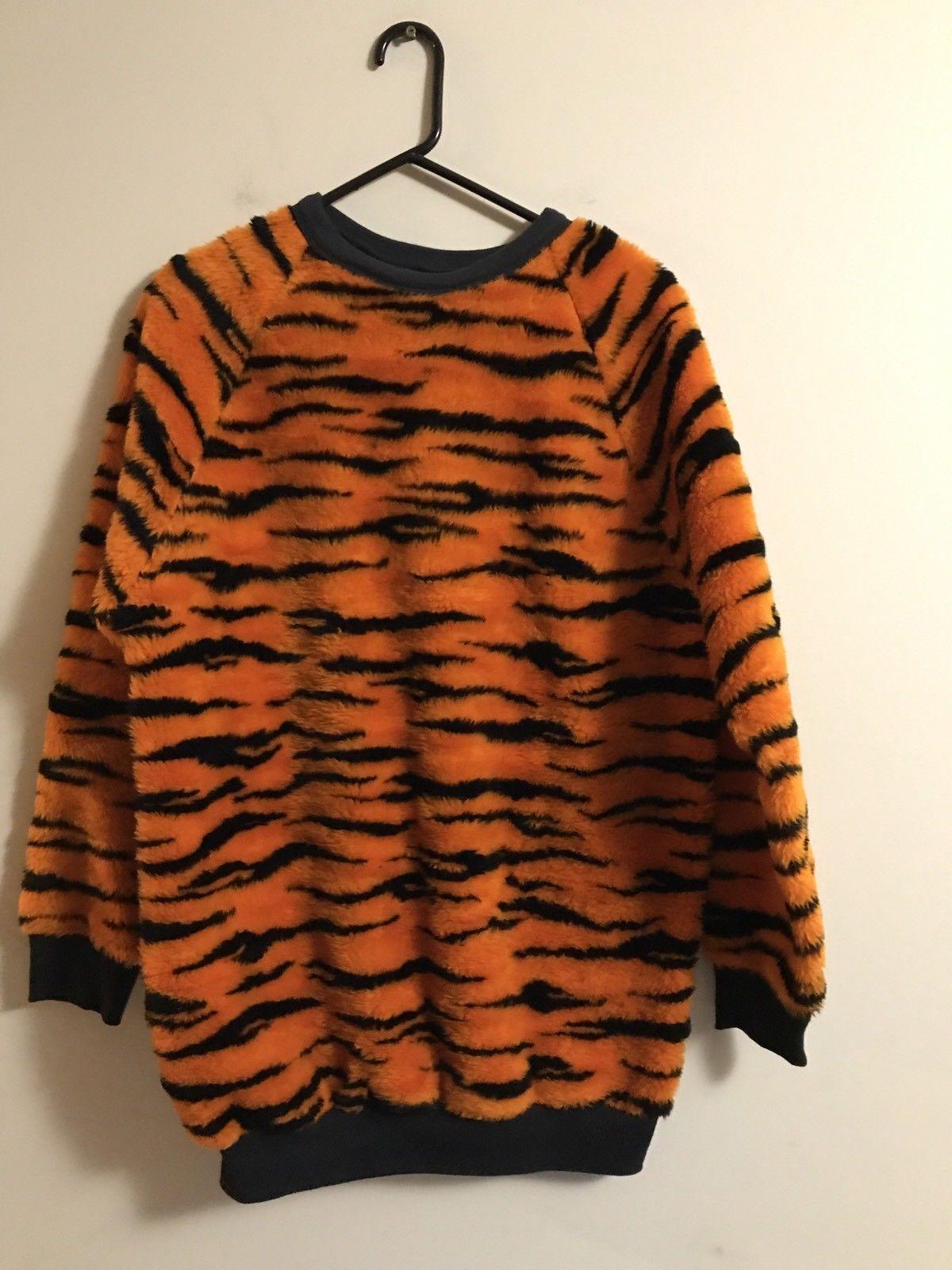 Vintage Bengal Tiger Striped Sweater Sweatshirt Size Xl Costume Heavy Cat