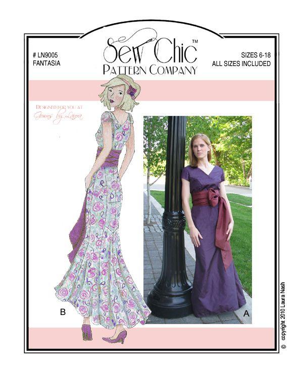 Vintage 1930s Dress Sew Chic Sewing Pattern LN9005 Fantasia ...