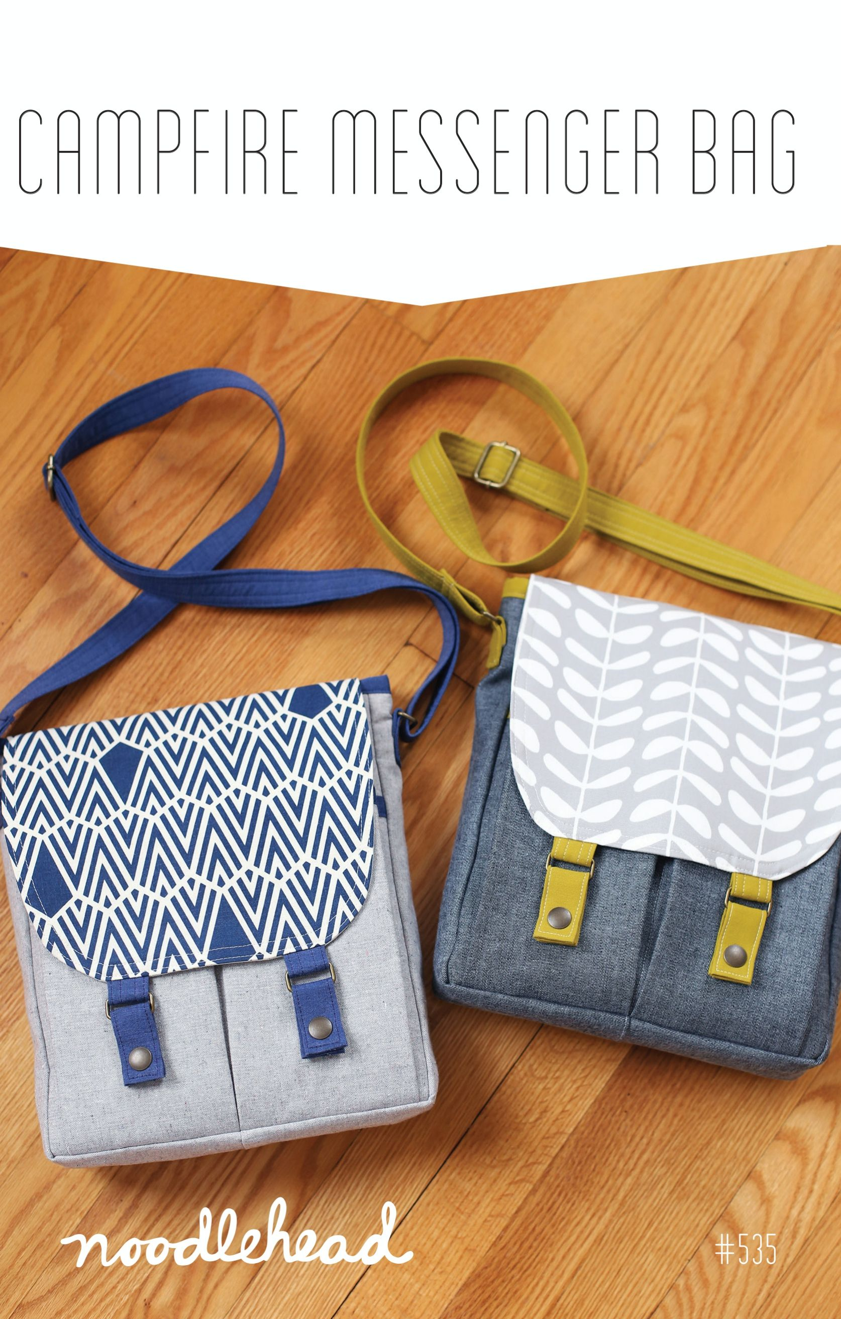 Sewing with Pura Vida - Campfire Messenger Bag by Noodlehead | Pura ...