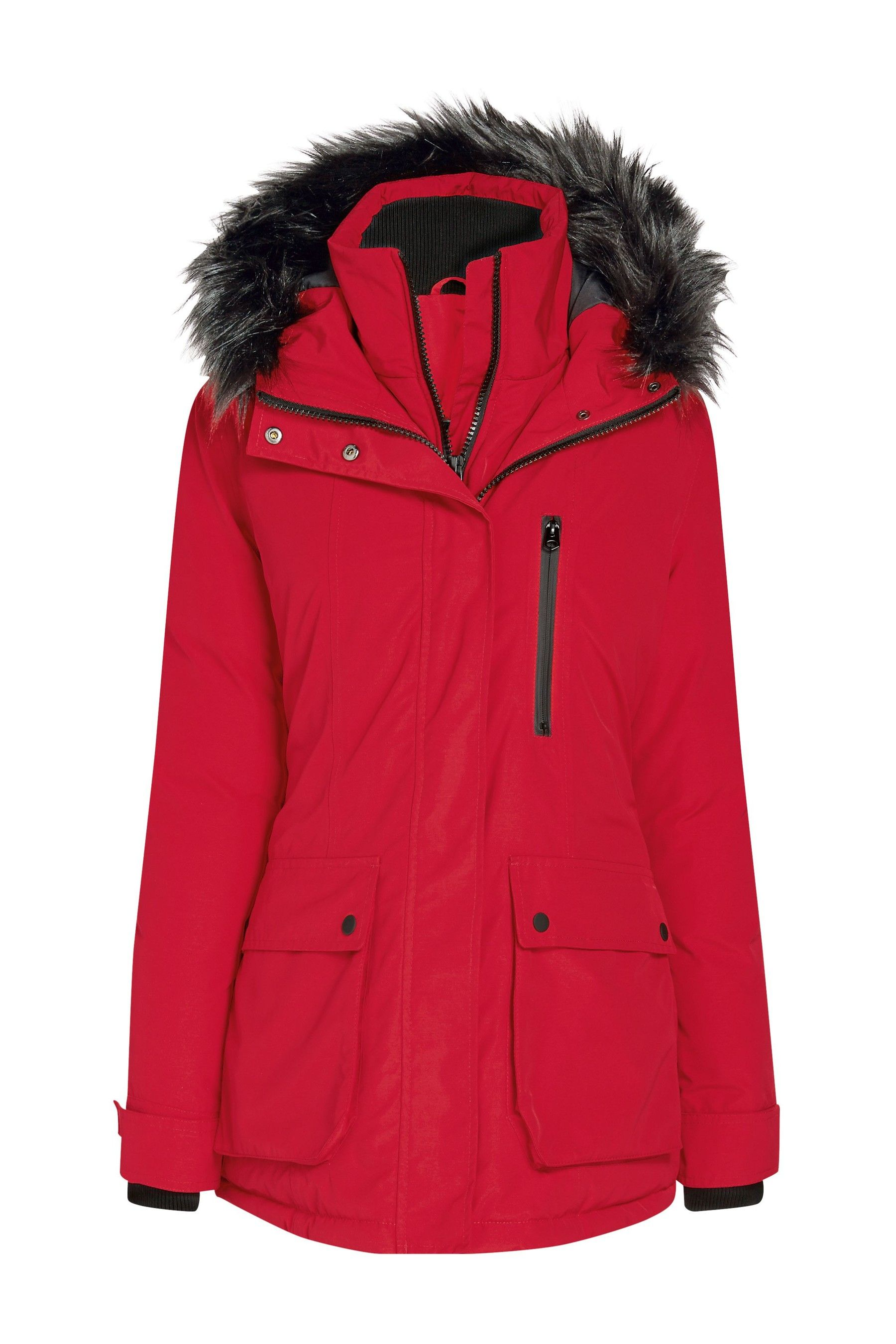 7ebb2e6f3 Womens Next Red Waterproof Technical Padded Jacket - Red   Products ...