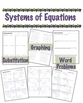 systems of equations substitution graphing word problems equation word problems and math. Black Bedroom Furniture Sets. Home Design Ideas