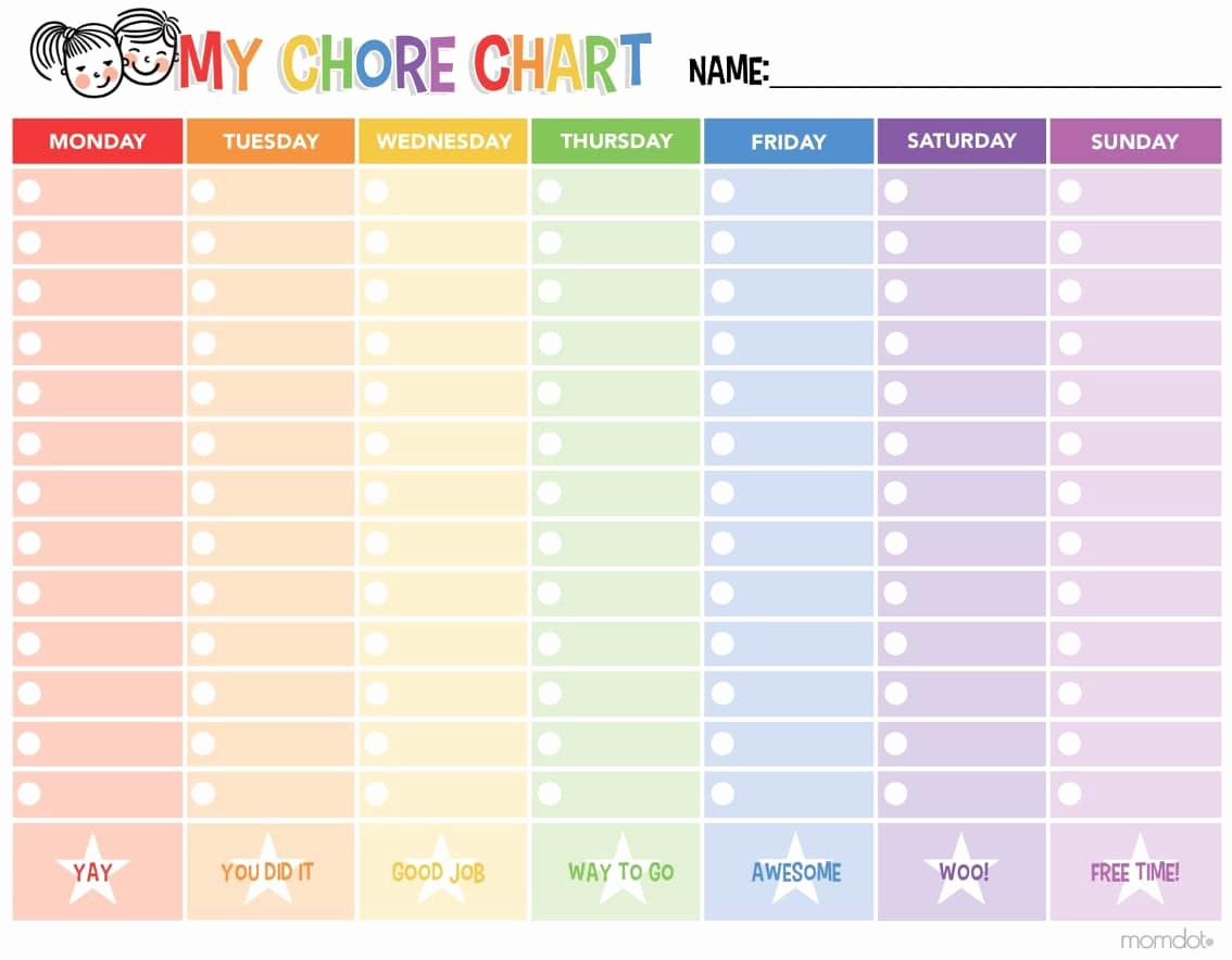 Printable Chore Charts In