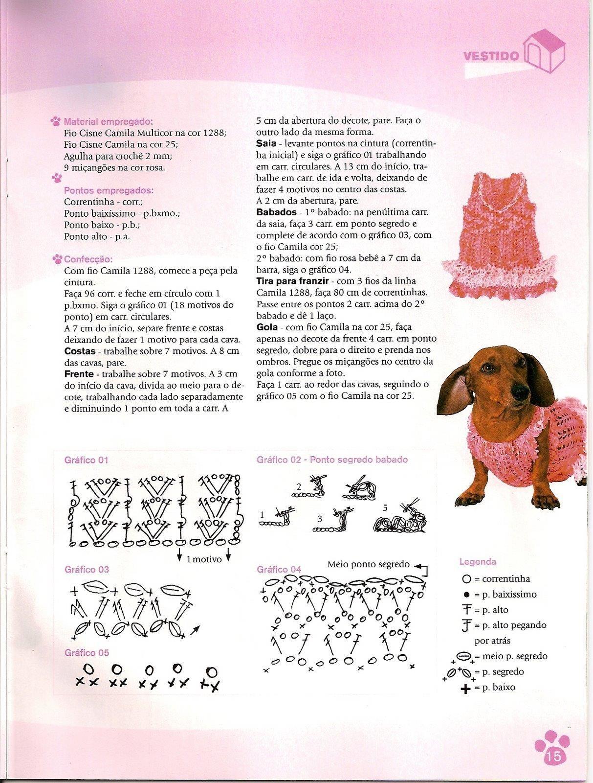 Hermosa Los Patrones De Crochet Libre Suéteres Para Perros Patrón ...
