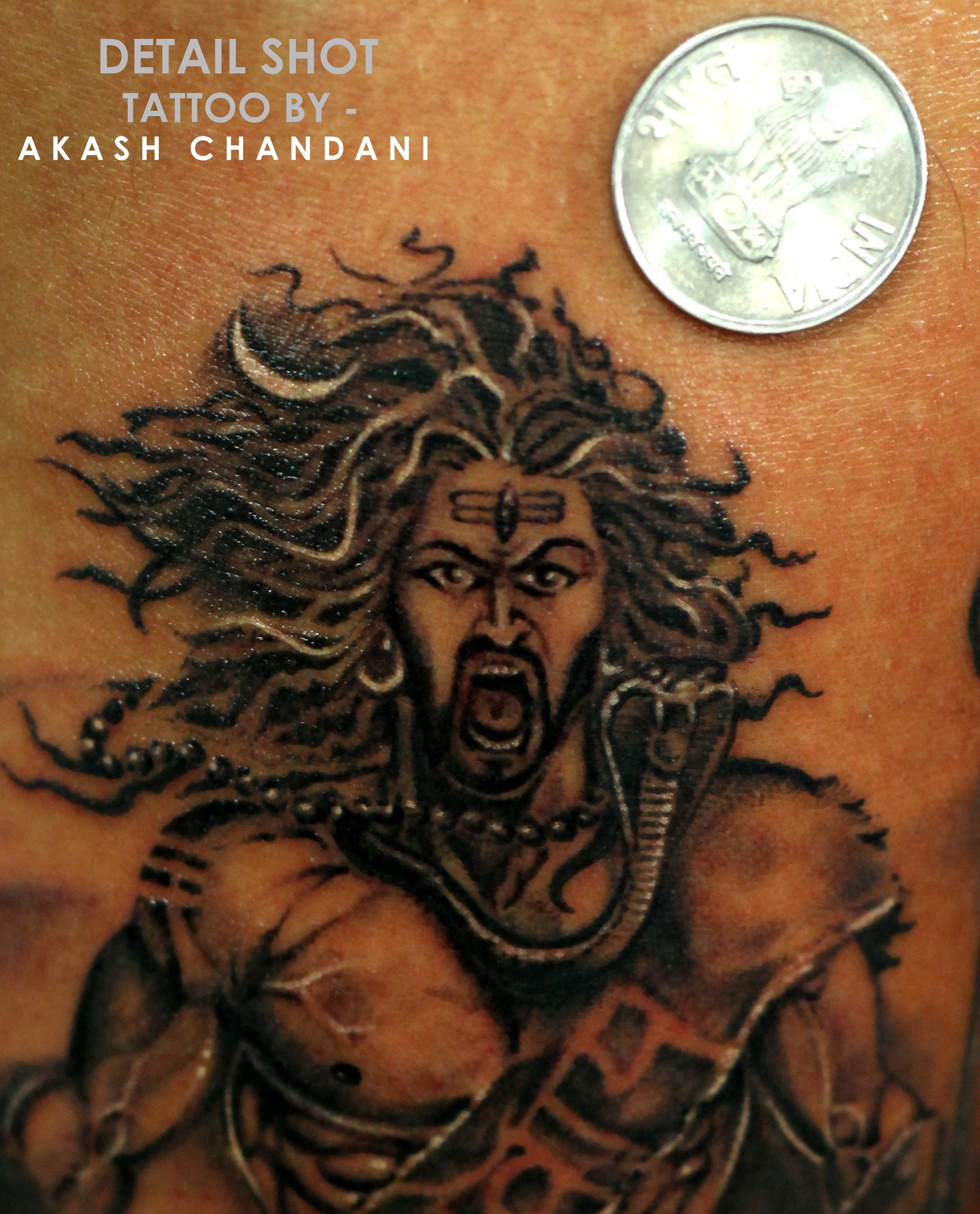 8f6001a8a Coin Size face detailing it was, Challenging Job. Shiva tattoo by Akash  Chandani Instagram - the_inkmann