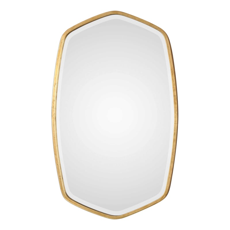 Uttermost 09382 David Frisch 22 Inch Wide Oval Beveled Wood Framed Wall Mounted Gold Home Decor Mirrors Accent Mirror is part of Gold Home Accents Master Bath - 4  bevelA wonderful addition to any living room or entrywaySpecifications  Height 36 Width 22 Projection 2 Frame Material WoodProduct Weight 23 lbs  Accent Mirror Gold