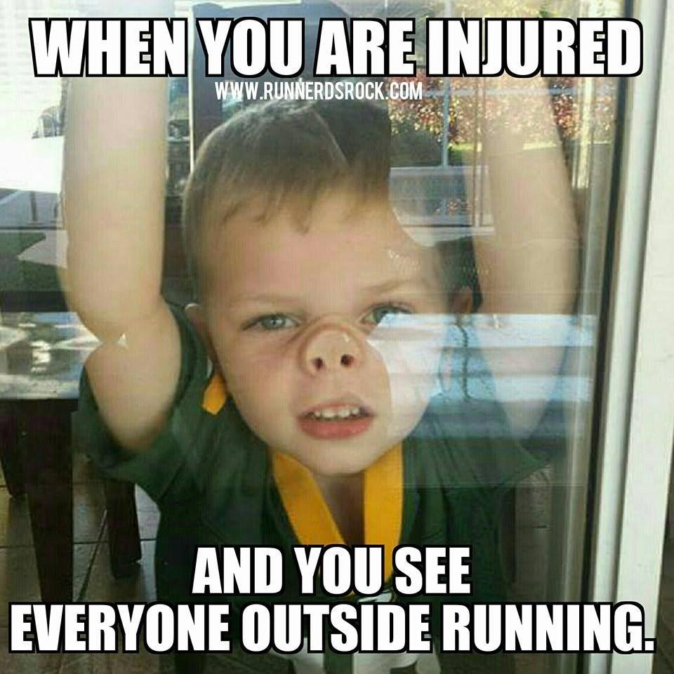 Image result for running injury meme