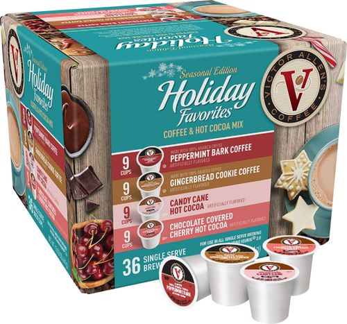 Victor Allen S Seasonal Edition Holiday Favorites Coffee Pods 36 Pack The On Sale Marketplace Coffee Pods Coffee Flavor Gourmet Coffee