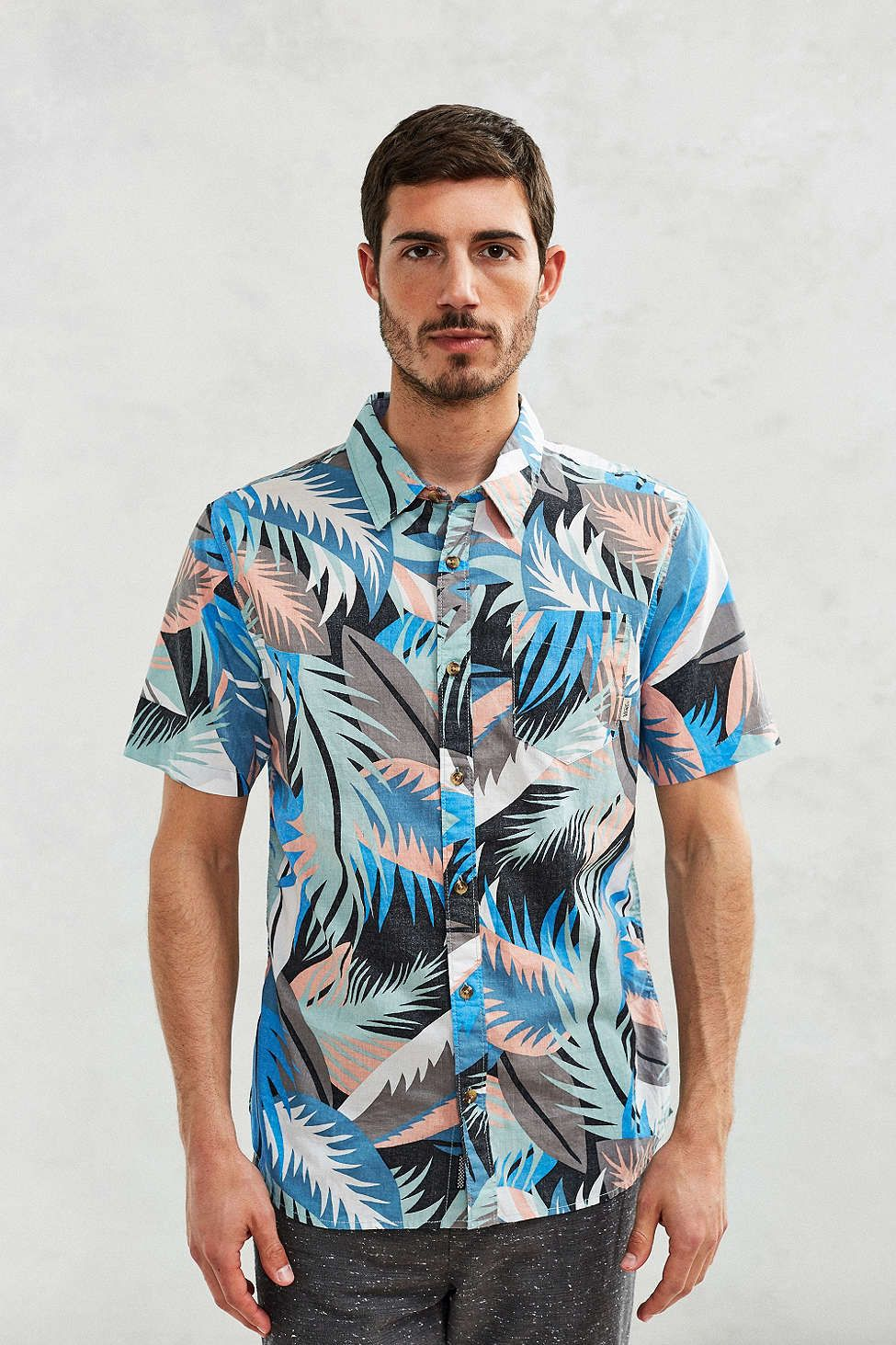 Flannel shirt with shorts  Vans Cosgrove Canton Stanton Floral ShortSleeve ButtonDown Shirt