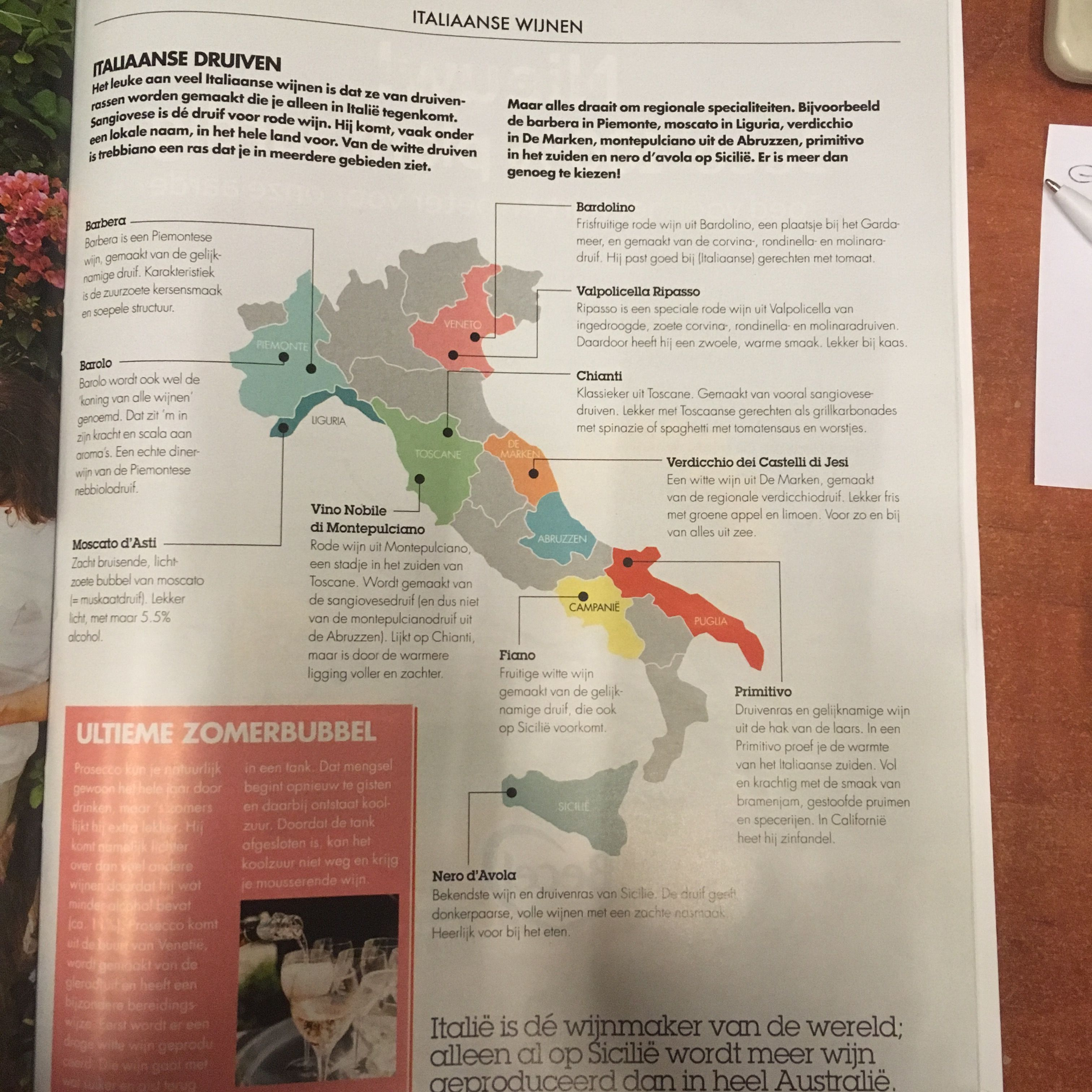 Map of the wine in italy! AH  Allerhande