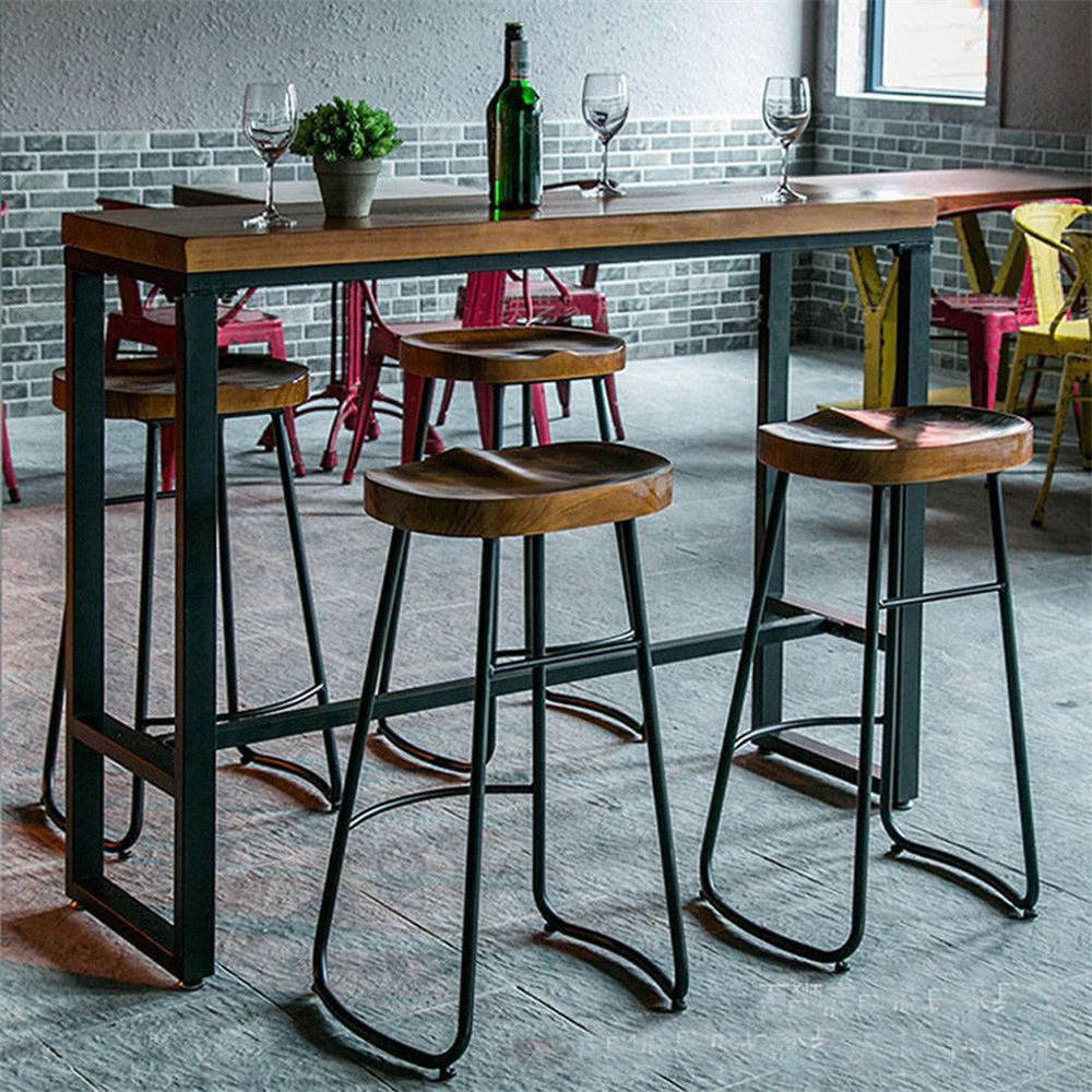 1 2 4pc Vintage Metal Bar Stools 30 Backless Counter Height Stool Wood Top Seat Unbranded Indus Vintage Bar Stools Industrial Bar Stools Designer Bar Stools