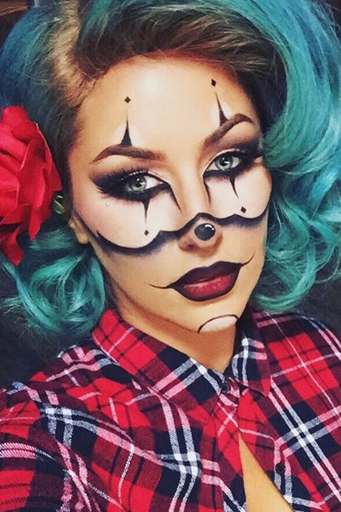 25 Scary but Cute Makeup Ideas to Try for Halloween Makeup ideas - cute makeup ideas for halloween