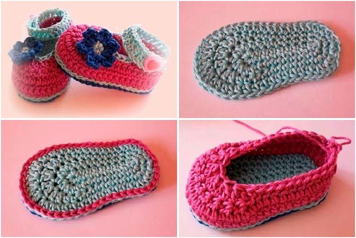 Zapatitos de bebé de crochet. ¡Sigue el paso a paso con patrón ...