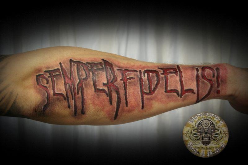 semper fidelis lettering by 2Face-Tattoo on deviantART