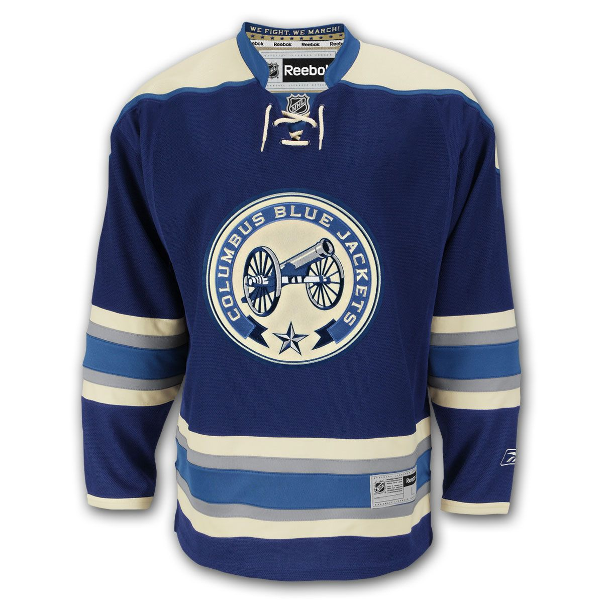 72b529a2b Columbus Blue Jackets Reebok Premier Replica Alternate NHL Hockey ...