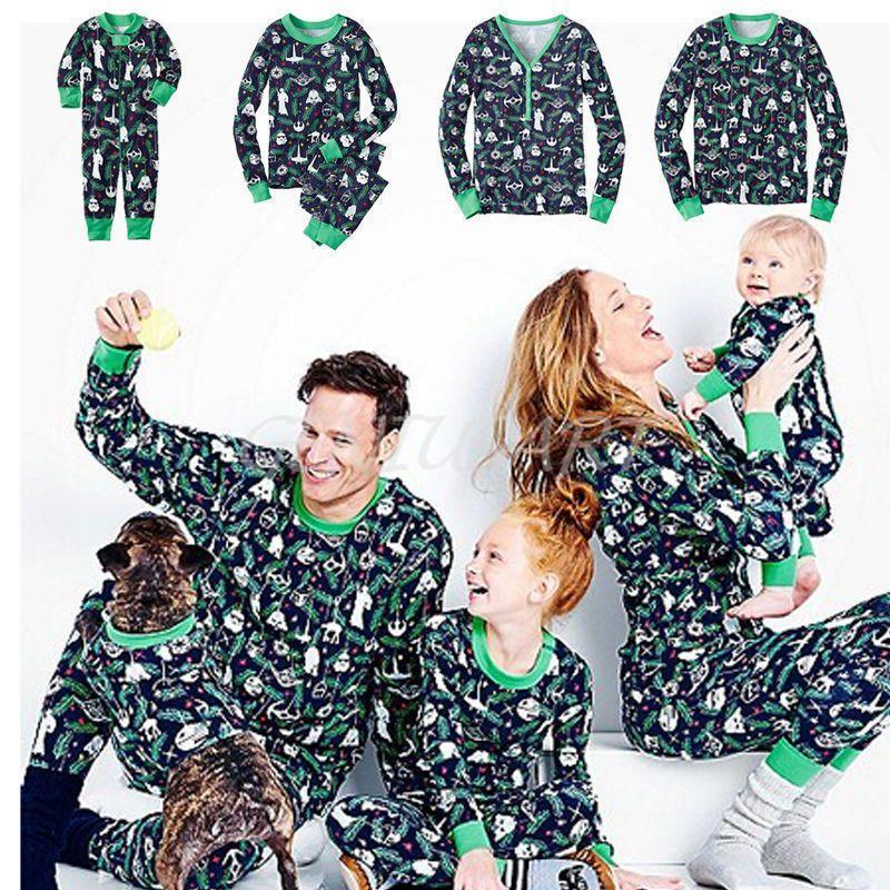 cf97685fc0df Christmas Family Matching Pajamas Set Sleepwear Nightwear Pyjamas Star Wars