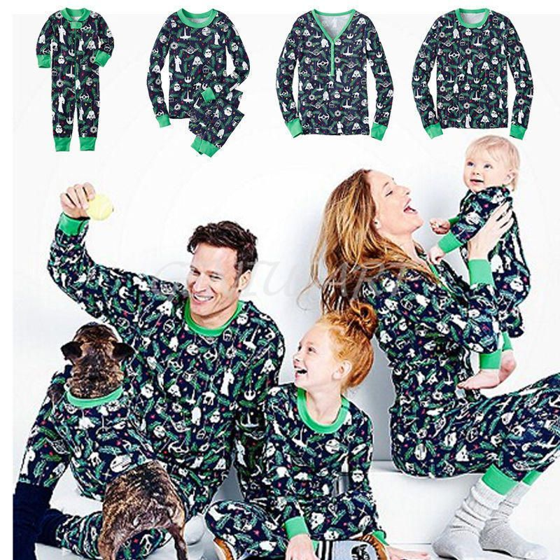 36fef6acc8b5 Christmas Family Matching Pajamas Set Sleepwear Nightwear Pyjamas Star Wars