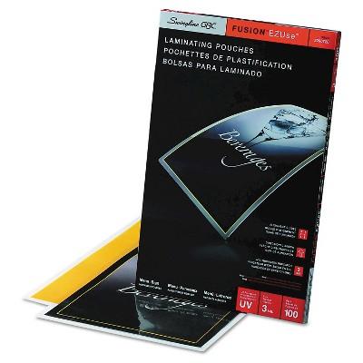 Swingline Gbc Fusion Ezuse Premium Laminating Pouches 3 Mil 11 1 2 X 17 1 2 100 Box Pouch Letter Size Lettering
