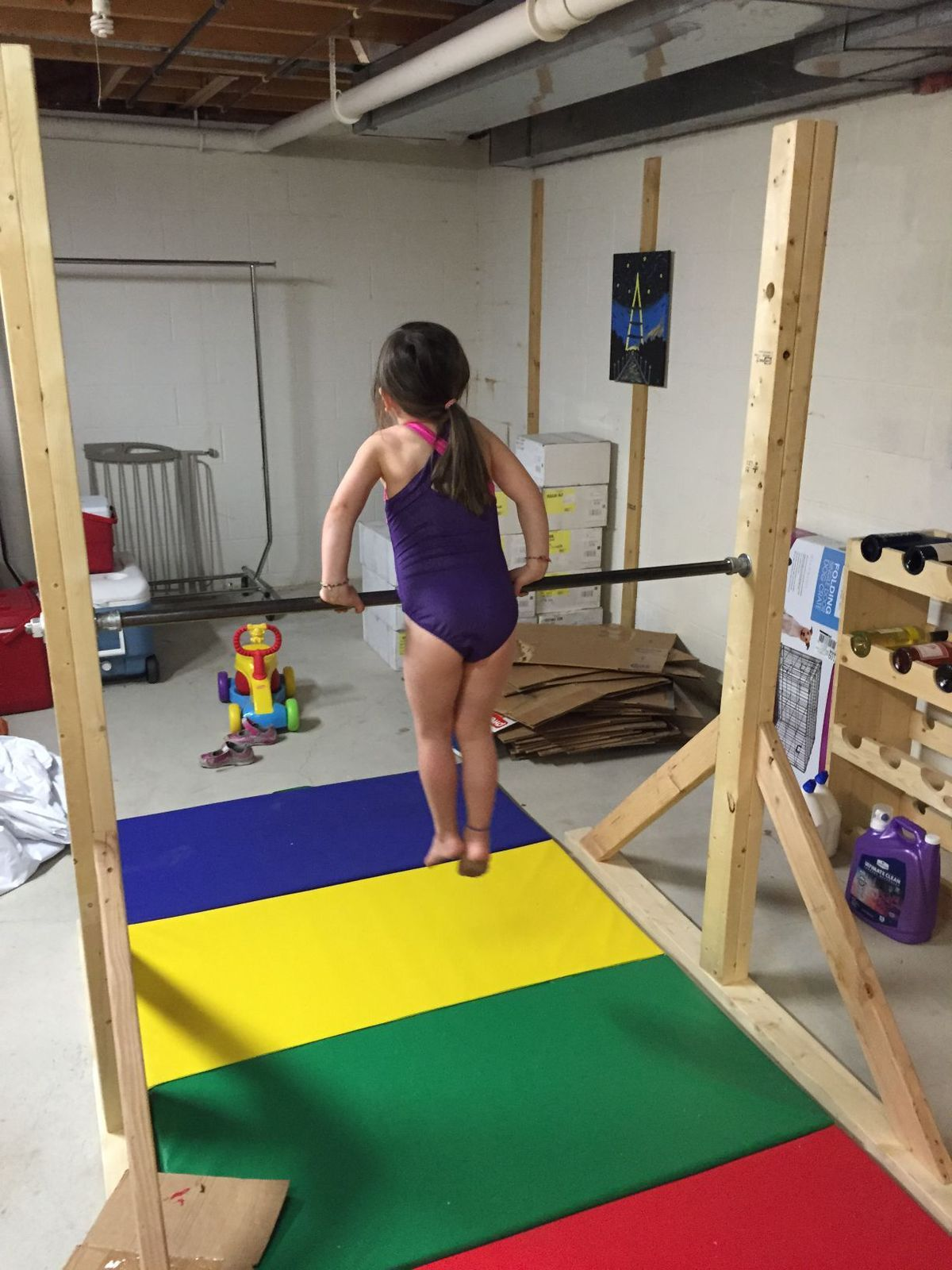 block bar beam foam mat diy mats and a gymnastics includes pin pink set