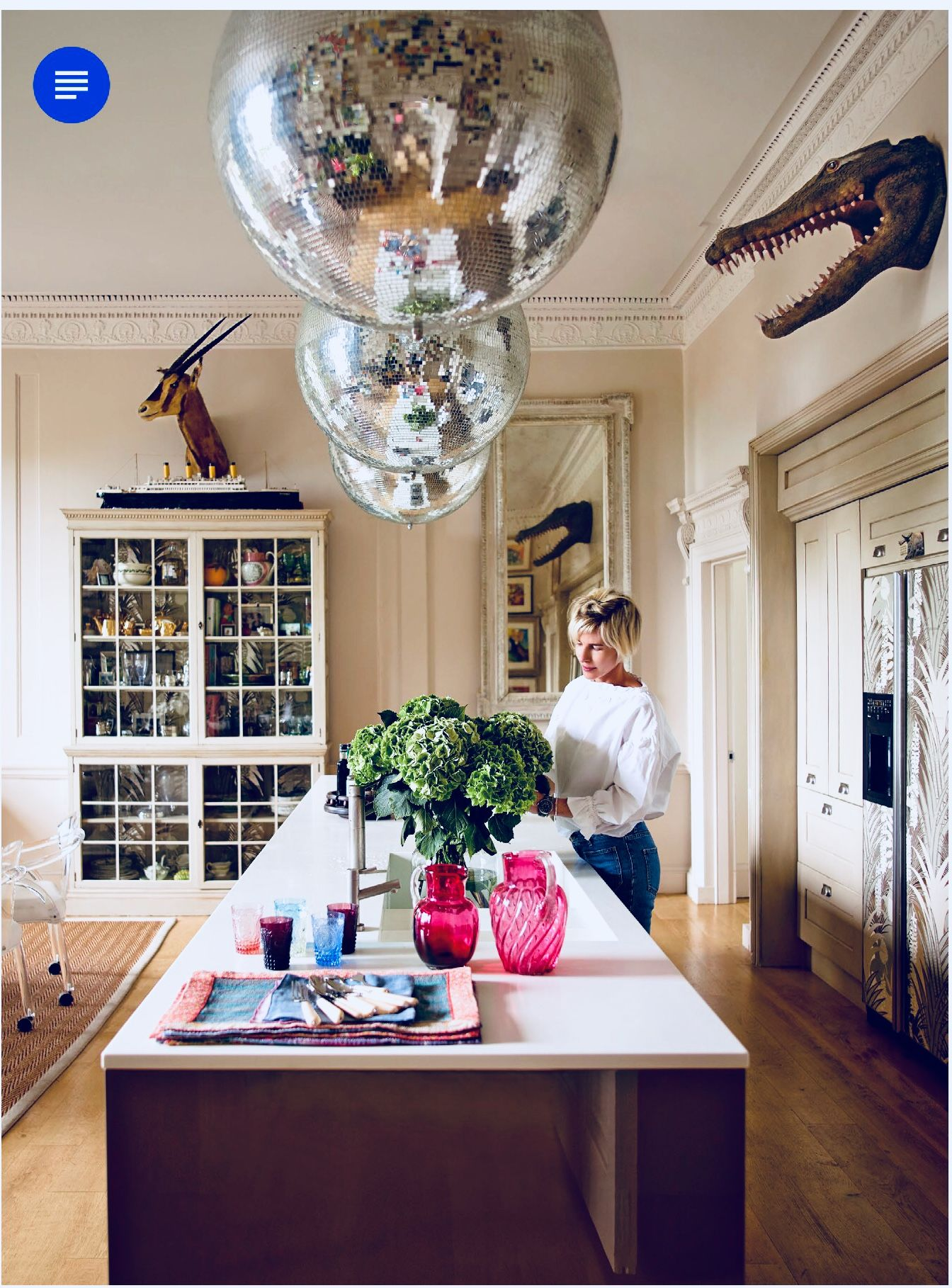 Disco balls in an English manor\'s kitchen | Kitchens and Dining in ...