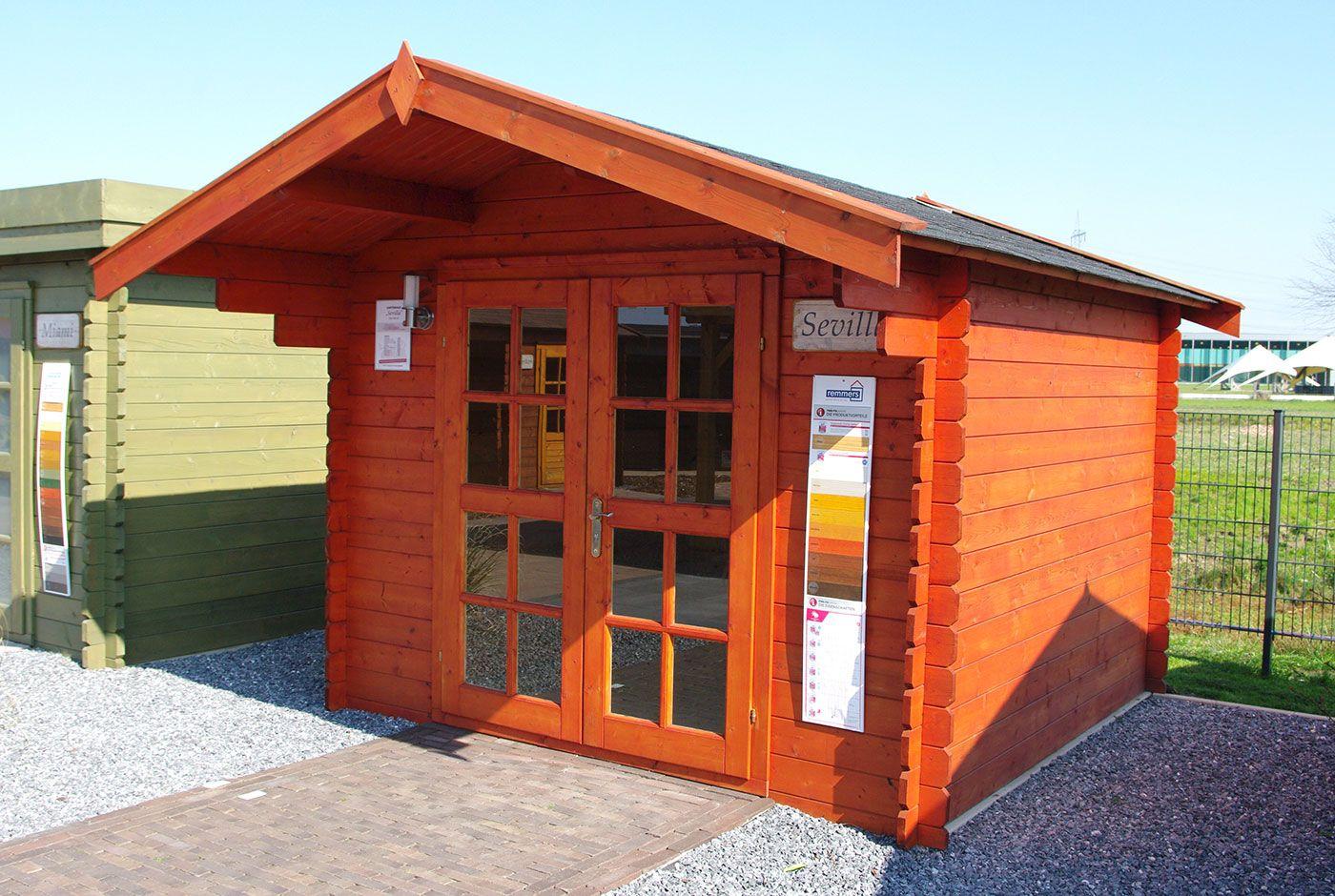 das kleine gartenhaus sevilla in dem maß 300 x 300 cm eignet sich