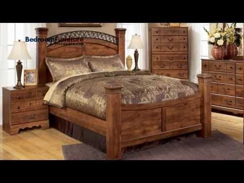 Timberline 4 Piece Poster Bedroom Set In Cherry Ashley Signature Design Furniture Brands