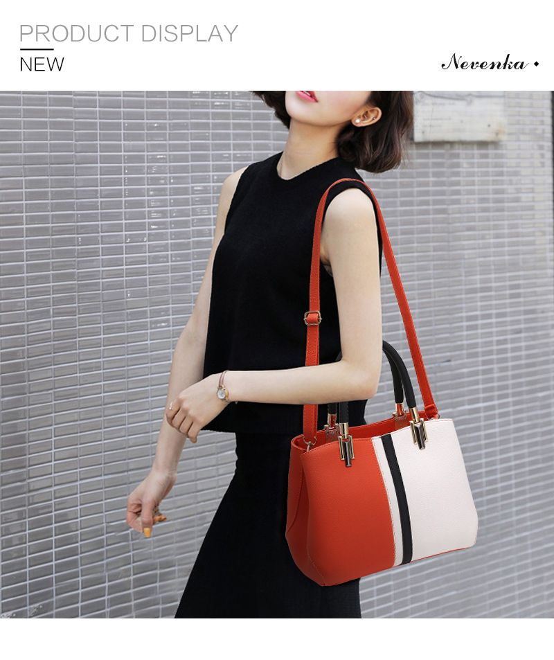 44.51 - Nice Nevenka Women Handbag PU Leather Bag Brand Tote Female Style  Evening Bags Zipper a154d6ec7f84e