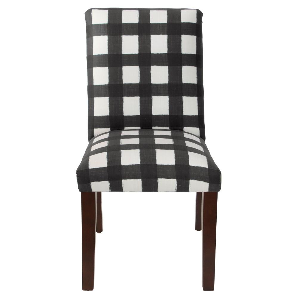 Printed Parsons Dining Chair Buffalo Square Black Threshold