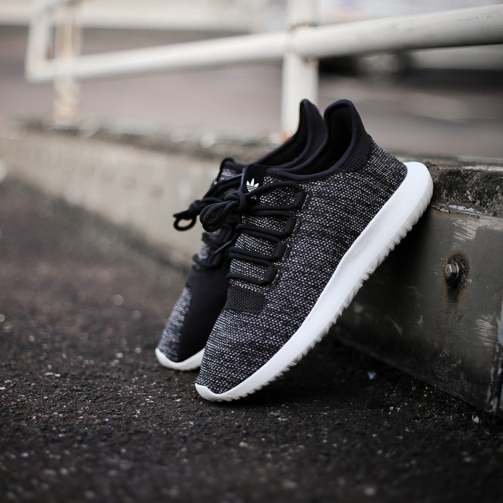 Adidas Tubular Shadow Utility Black White Knit
