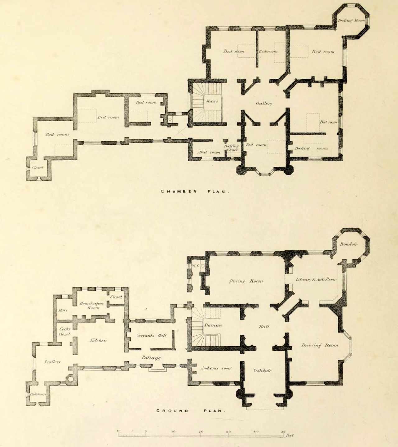Floor Plans For A Country Estate England Mansion Floor Plan Floor Plans Vintage House Plans