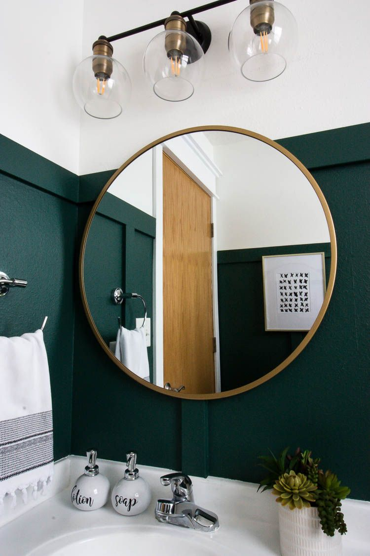 Modern Green Bathroom Makeover - Small Stuff Counts  Green
