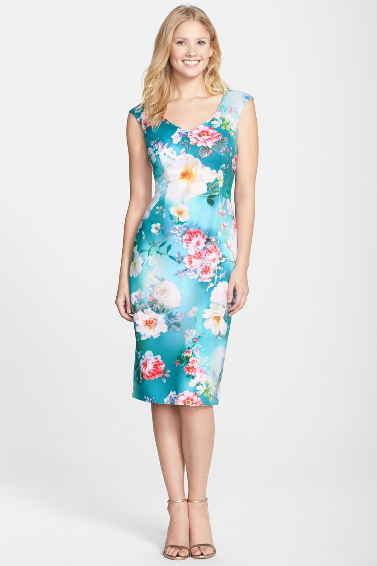 c4fa86f51724f Maggy London - Print Scuba Midi Dress at Nordstrom Rack. Free Shipping on  orders over $100.