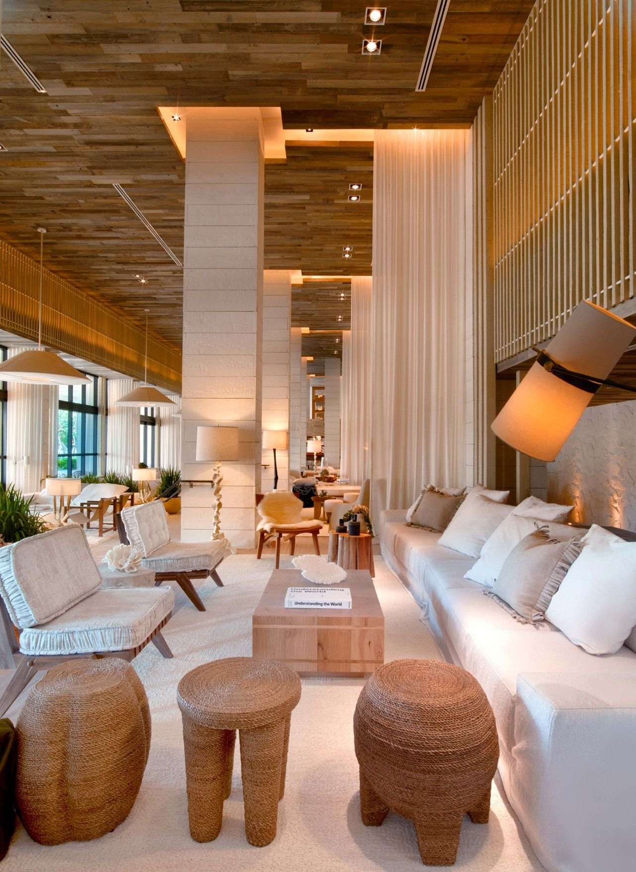 Inside The New 1 Hotel South Beach Miami Hotel Lobby Design Hotel Interiors Hotel Interior Design