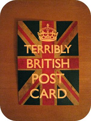 Terribly British Postcard, Snail Mail Collective    Going Green: Our Army Adventure,  October Snail Mail Reveal   Thankful Project {Day 4}