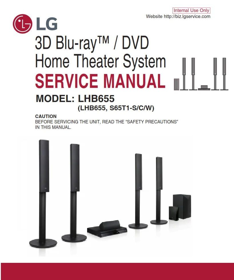 Lg Lhb655 Home Theater System Original Service Manual And Repair Instructions Dvd Home Theater System Home Theater System Electrical Troubleshooting