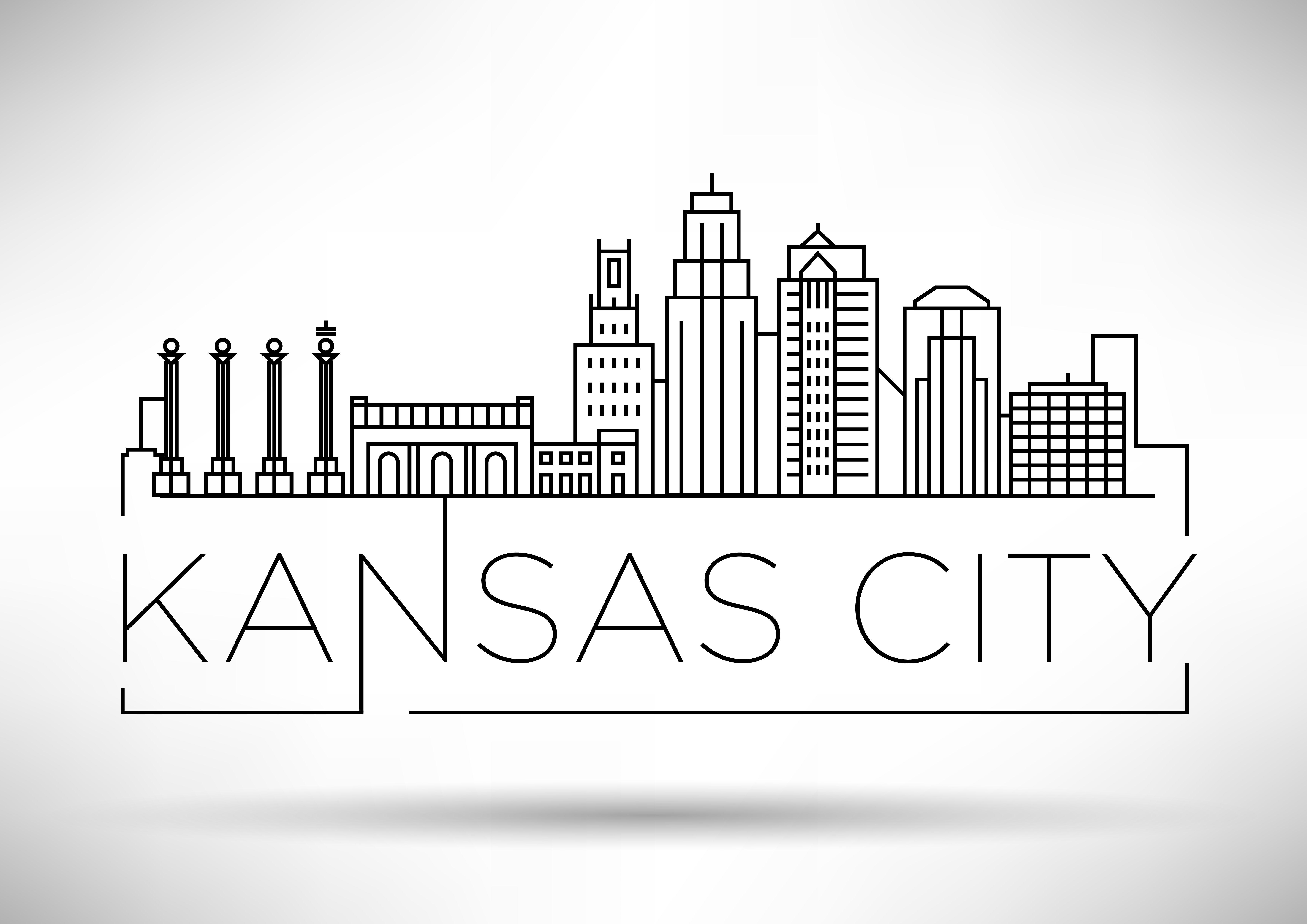40 Usa Cities Linear Skyline Kansas City Skyline City Drawing Skyline Drawing