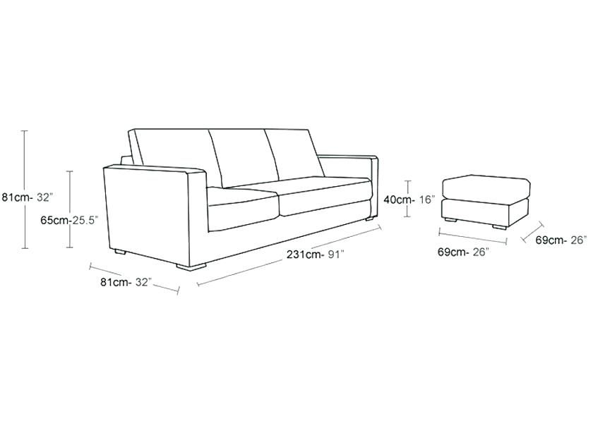 Sparkling Average Couch Size Trend Average Couch Size 82 For