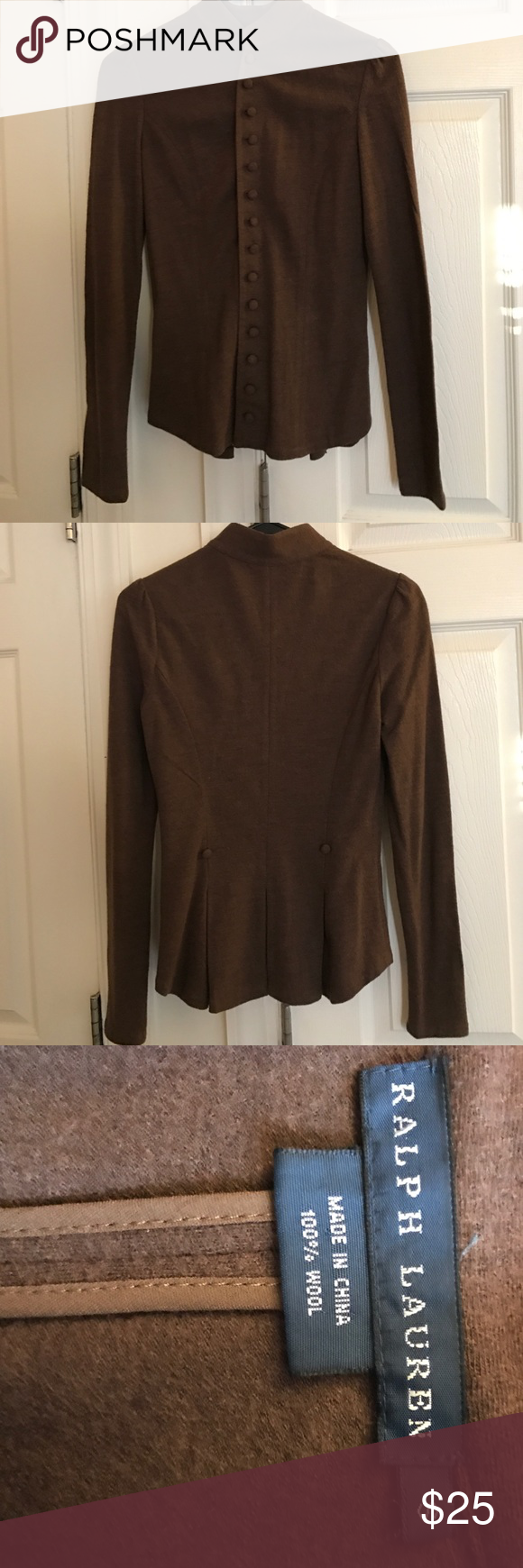 Cardigan Brown button down cardigan Ralph Lauren Sweaters ...