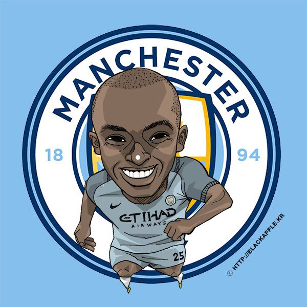 Manchester City No.25 Fernandinho Fan Art Ver2