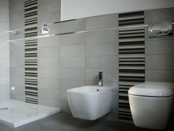 Rivestimento grigio con decori therapy home bagno grey design