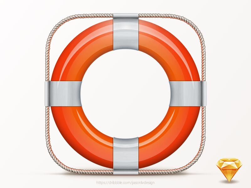 Lifesaver Icon Sketch Freebie Download Free Resource For Sketch 3 Support Icon Life Savers Lifebuoy